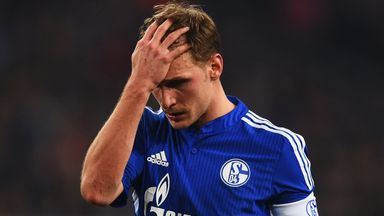 Schalke skipper Benedikt Hoewedes is distraught during the defeat to Chelsea