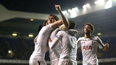 Benjamin Stambouli: Celebrates his goal for Tottenham