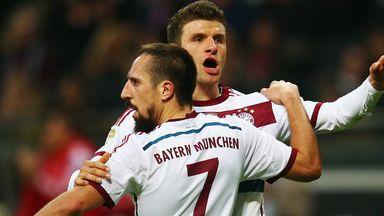 Thomas Muller: Celebrates for Bayern Munich