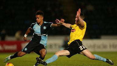 Paris Cowan-Hall (left): Former Wycombe winger facing injury lay-off