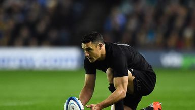 Dan Carter: Has scored a word record 1,457 points in Test rugby