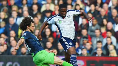 Victor Anichebe: West Brom striker in action against Newcastle