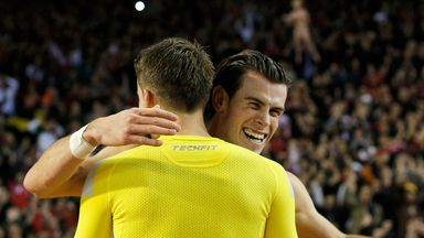 Gareth Bale and James Chester: Celebrate the 0-0 draw