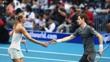 Murray and Sharapova: Celebrating a point