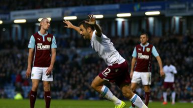 Joe Cole: Celebrates after scoring the opening goal at Burnley