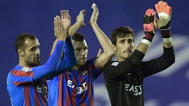 Levante: Celebrate their victory over Valencia