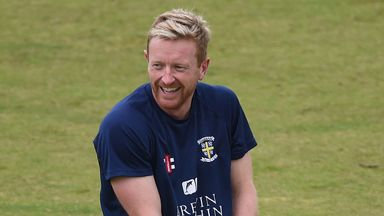 Paul Collingwood training with Durham