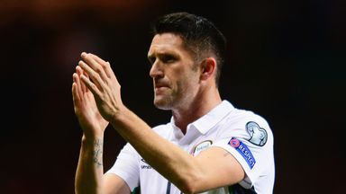 Robbie Keane of the Republic of Ireland
