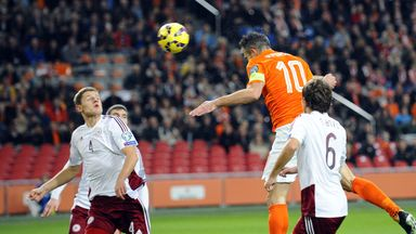 Robin van Persie: Heads home early on