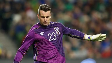 Shay Given of Ireland during the match between the Republic of Ireland and USA at the Aviva Stadium