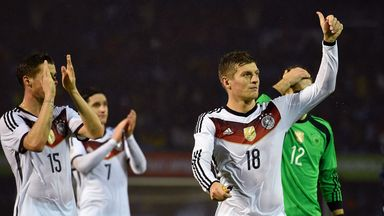 Toni Kroos and Germany celebrate at the final whistle
