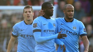 Yaya Toure (C): Scored first goal against Southampton on Sunday