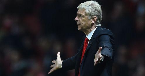 Arsene Wenger: Shows his frustration as Arsenal lose
