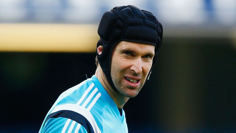 Petr Cech has worn protective headgear in matches ever since suffering a fractured skull in a Chelsea game against Reading in 2006
