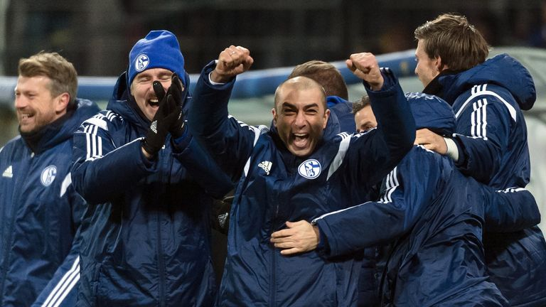 Roberto Di Matteo (C): Was able to celebrate qualification for the last 16