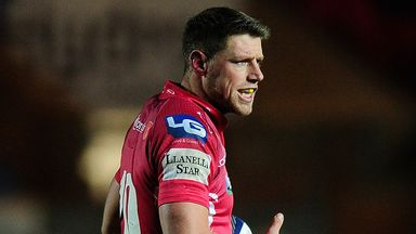 Rhys Priestland: Kicked nine points in the Scarlets' win at the Millennium Stadium