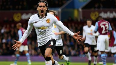 Radamel Falcao: Striker celebrates his goal on Saturday