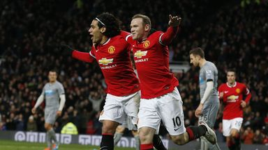 Wayne Rooney: Celebrates scoring Manchester United's opener