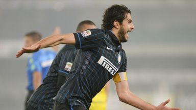 Andrea Ranocchia: Celebrates Inter's second goal