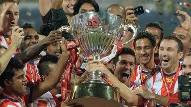 Atletico Kolkata won the inaugural Indian Super League