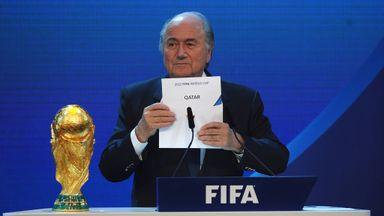 Sepp Blatter names Qatar as the winning hosts of 2022