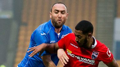 Lee Croft: St Johnstone midfielder in action against Ross County