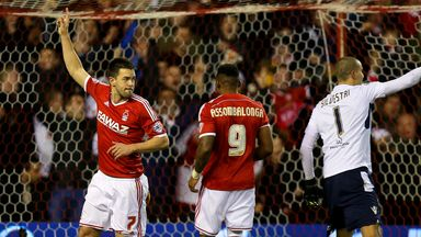 Matty Fryatt: Forest striker sees a first-half effort ruled out