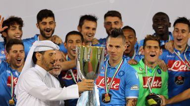 Marek Hamsik: Presented with Italian Super Cup trophy