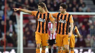 Gaston Ramirez: Celebrates his goal for Hull at Sunderland