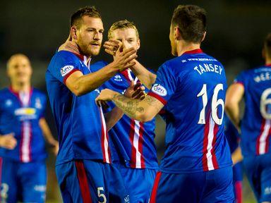 Inverness' Gary Warren celebrates with team-mates