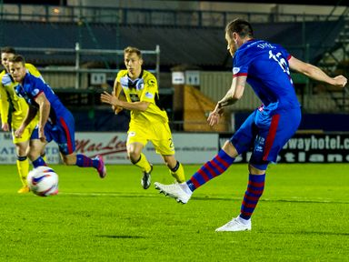 Greg Tansey fires it home from the spot to make it 2-0 to Inverness