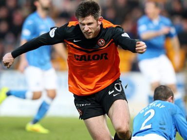 Dundee United's Calum Butcher is back after a suspension