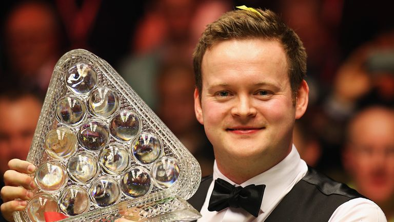 Shaun Murphy: Celebrates after being crowned Masters champion