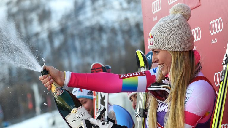 Vonn has won a record 76 World Cup races