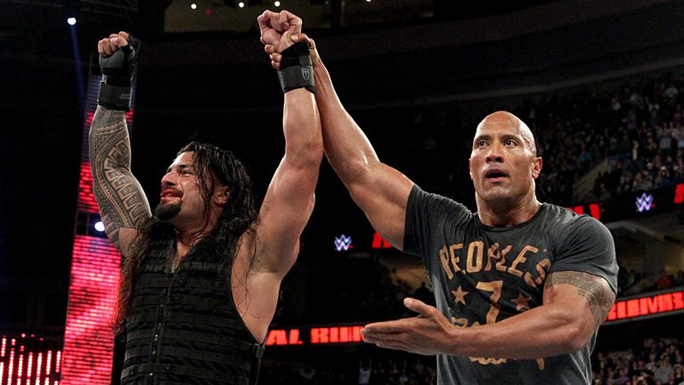 Roman Reigns Celebrates His Royal Rumble Victory With Cousin The Rock
