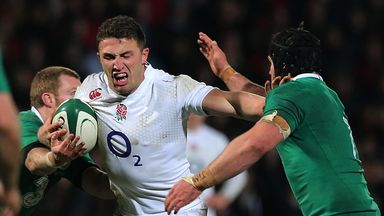 Sam Burgess in action for England Wolfhounds