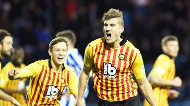 Frederic Frans: Celebrates his equaliser for Partick