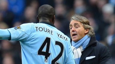 Roberto Mancini: Hints at move for Yaya Toure