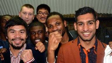 Amir Khan and Manny Pacquiao met up at Fitzroy Lodge earlier this year