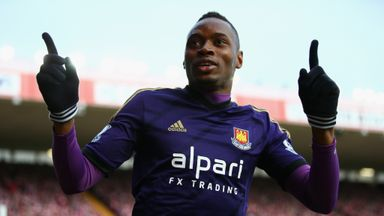 Diafra Sakho: Salutes fans after netting winner