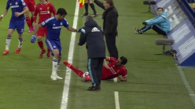 Diego Costa and Emre Can clash early in Chelsea's 1-0 win