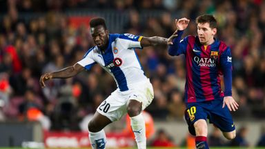 Felipe Caicedo helped give Espanyol a 3-1 first-leg lead over Sevilla