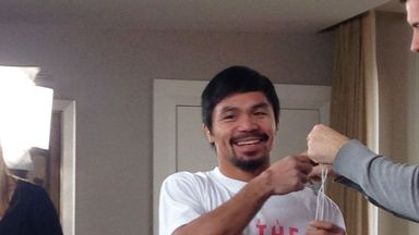 Manny Pacquiao: Pressure from his children to fight Floyd Mayweather for three years