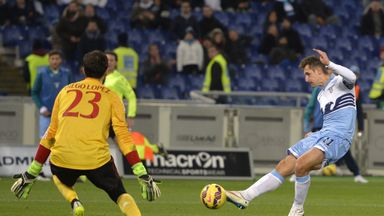 Miroslav Klose: Scores against AC Milan in Lazio's 3-1 win