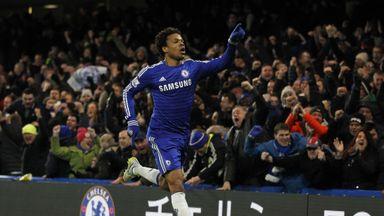 Loic Remy celebrates scoring Chelsea's goal against Manchester City