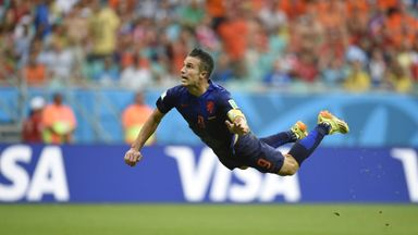 Robin van Persie: One of three contenders for Puskas award