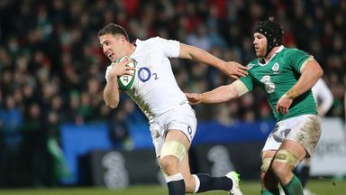 Saxons centre Sam Burgess evades Sean O'Brien's attempted tackle