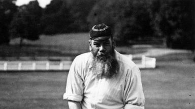 W. G. Grace played 22 Test matches for England between 1880 and 1899, scoring two hundreds