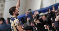 Billy Sharp: Celebrates Leeds' winner