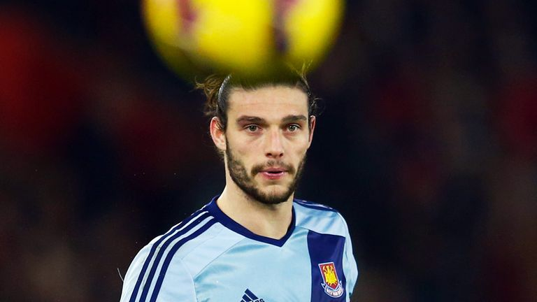 Andy Carroll: West Ham striker will miss four to six weeks with a knee injury